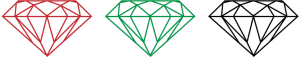 Ruby, Emerald, and Diamond